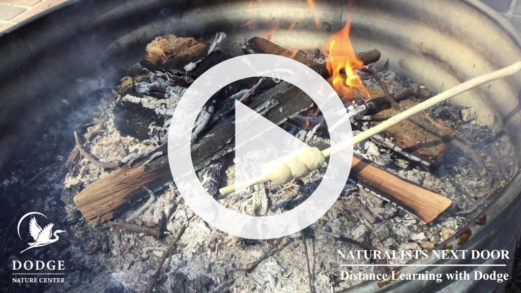 Watch Dodge Naturalist Mick Garrett show you all the tricks to mix dough, spiral it on a stick, and twirl 'til it's toasted.